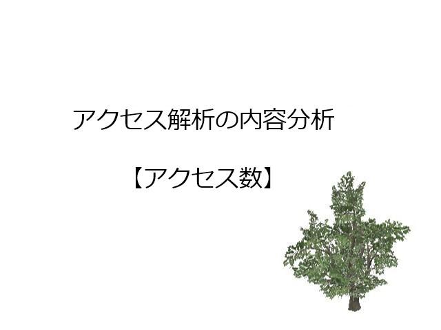 アクセス解析【アクセス数】